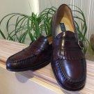 Bass Sanborn Mens Leather Kiltie Buckle Strap Loafers Slip On Burgundy 12D!
