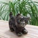 Jenny Winstanley Hand Painted Porcelain Tabby Cat with Cathedral Glass Eyes - England!