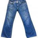 True Religion Billy Flap Pocket Super T World Tour Thick Stitch Jeans - Size 34 - MADE IN USA!