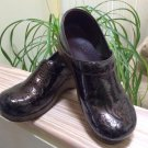Dansko Professional Tooled Clog - Chocolate Brown/Swirled design - Size 41 - EXCELLENT!