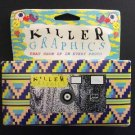 Urban Outfitters KILLER GRAPHICS 35MM 24 Exposure Single-Use Flash Camera - NOS - RARE!