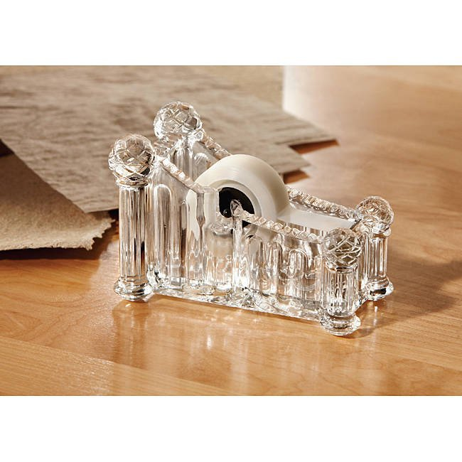 Fifth Avenue Crystal and Clear Glass Tape Dispenser!