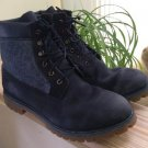 Timberland Men's 6 Inch Premium Leather Panel A159X Work Boots Navy Blue - Sz 13!