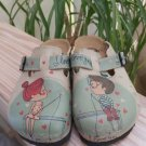 Caleco Boy & Girl Fishing I Love You Patterned Handmade in Turkey Clogs - Size 6!