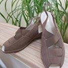ara Women's Reugen Taupe Suede Slingback Sandal Shoes - Size 8!