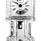 Vintage Shannon Crystal by Godinger Crown Crystal Grandfather Mantel Clock - New with Foil Label!