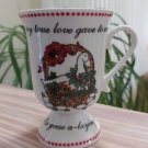 Domestications 12 Twelve Days of Christmas Footed Pedestal Mug - Sixth Day from 1994!