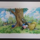 Bunny Respite Watercolor Colored Pencil Painting Print by Paige Miglio, Childrens Book Illustrator!