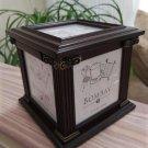 Bombay Company Photo Cube Storage Box - Mahogany - from 2003!