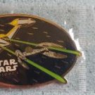 Star Wars Episode I Naboo Droid Starfighter Enameled Metal Keychain by Applause - 1999 Lucasfilm!