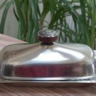 Mid Century International Decorator Stainless 18-8 Steel Butter Dish - 1960's - Made in Japan!