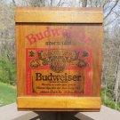Anheuser Busch Budweiser Wooden Crate Wall Storage Cabinet - Functional Man Cave decor!