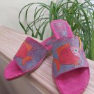 Art Effects 'Little Fish' Slide On Sandal - Angular Heel - Size 9 - Tropical Theme Vacation Shoes!