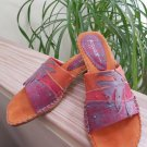 Art Effects 'Lucia' Slide On Sandal - Angular Heel - Size 9 - Tropical Theme Vacation Shoes!