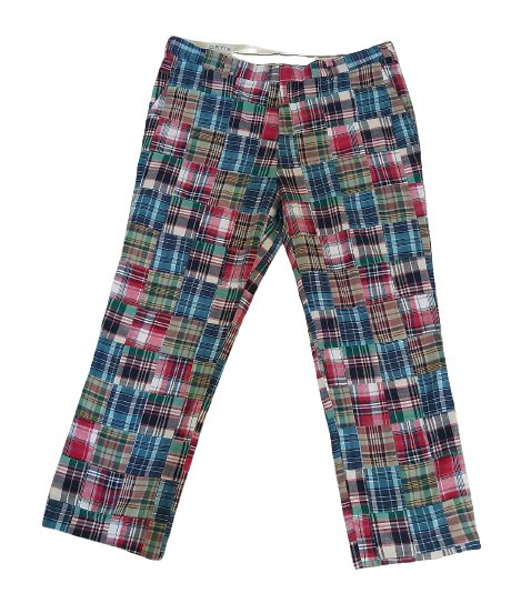Vintage Orvis Men's Patchwork Madras Plaid Golf Pants Size 42 x 31 - Fully Lined!