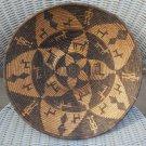 "Vintage Coiled Woven Native American Tribal Ethnic Folk Basket Bowl - 14"" Diameter!"
