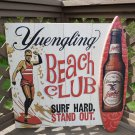 """HUGE Yuengling Beer Beach Club Surf Hard Stand Out Wood sign - 31""""  x  32"""" - Made in the USA!"""