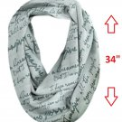 """John Lennon """"Imagine"""" Infinity Scarf by Lyric Culture - 30""""  x  34"""" - VERY LARGE - Made in USA!"""