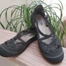 Jambu Women's Blossom Encore Mary Jane CrissCross Strap Flat Shoes - Size 8!