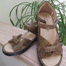 Hoopoe Women Ortho-Line Annette P3213 Mustard Brown Comfort Sandal Croc - Size 37W!