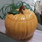 Vintage Scioto Molds 1979 Fall Halloween Ceramic Pumpkin Cookie Jar - VERY LARGE!