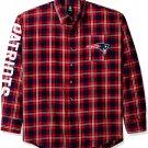 NFL New England Patriots Wordmark Mens Long Sleeve Cotton Flannel Shirt - Size XL!