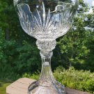 """Vintage Magnificently Tall Cut Crystal Pedastal Centerpiece Compote, Fruit Bowl, Candy - 14"""" Tall!"""