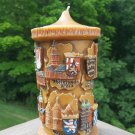 Vintage GUNTER KERZEN Hand Carved Eternal Wax Art Candle from Germany - Towns & Cities - c1960!