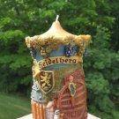 Vintage GUNTER KERZEN Hand Carved Eternal Wax Art Candle from Germany - c1960!