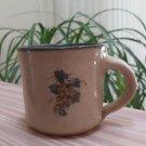 Monroe Salt Works of Maine Stoneware Pottery Salt Glaze 8 ounce Mug - Grapes!
