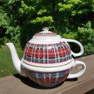 Williams Sonoma Stuart Dress Tartan Plaid Teapot Cup Combo - Made in Japan!