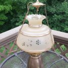 Vintage QUOIZEL Satin Etched Ceiling Mount Light Fixture with 14' Chain/Cord Wall Plug or Hard Wire!