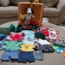 Peanuts Snoopy, Belle, Woodstock Wardrobe Trunk & Outfits 1965 US - 1 Doll!