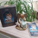 Vintage Fontanini by Roman Olivia Angel w Lamb Heirloom Nativity Figurine, 5-Inch Series from 2001!