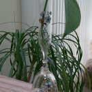 Very Rare Vintage Handpainted Glass Hand Bell with Flower Vase Top - Beautiful and Unique Gift!