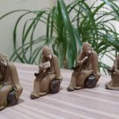 Very Fine Vintage Chinese Mud Men, unglazed, Lot of 4 by Arts & Crafts!
