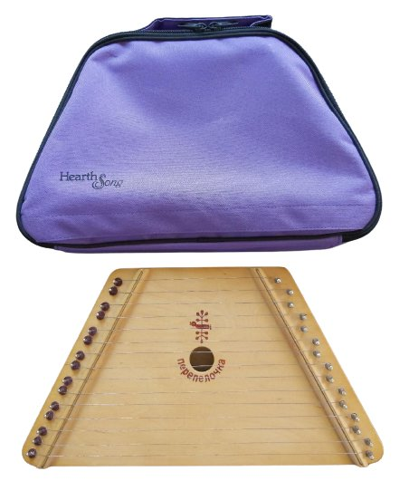 Hearth Song Music Maker Wooden Lap Harp with Purple Canvas Carrying Case!