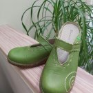 El NaturaLista Lime Green Patchwork Yggdrasil No96 Open Back Mules/Slides Size 39 - Made in Spain!