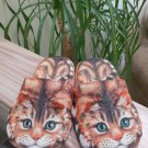 Tabby Cat Slippers for Kitty Lovers - Cushy, Lightweight, Adorable - Size 6½ - 7½!