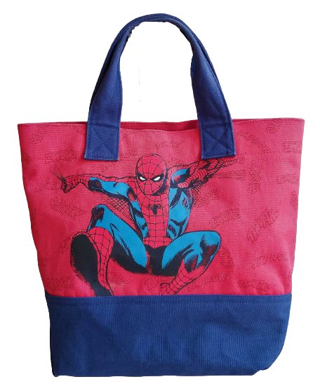 Spider-man Pottery Barn Kids Marvel Comics Canvas Tote Bag!