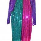 Gemini Nites Sequined Silk Dress Plus Size 22 EVENING WEAR or HALLOWEEN!