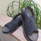 SoftWalk Women's Hansford Navy Blue Slingback Wedge Sandal - Size 8.5!