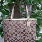 Coach Poppy Signature Lurex Red Hearts & Gold Dots Small Tote Handbag No. J1176-F46933 - NWOT!