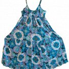 Vintage Tramp Sleeveless Adjustable Strap Tiered Mod Cotton Bohemian Maxi Dress - Size L - NWOT!