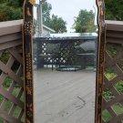 Friedman Bros. Williamsburg Connoisseur Collection Chinoiserie Black Lacquer  & Parcel-Gilt Mirror!