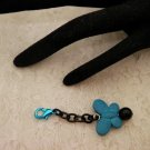 Blue Charmed Butterfly Zipper or Bag Pull