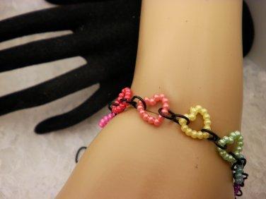 Pearled Heart Bracelet