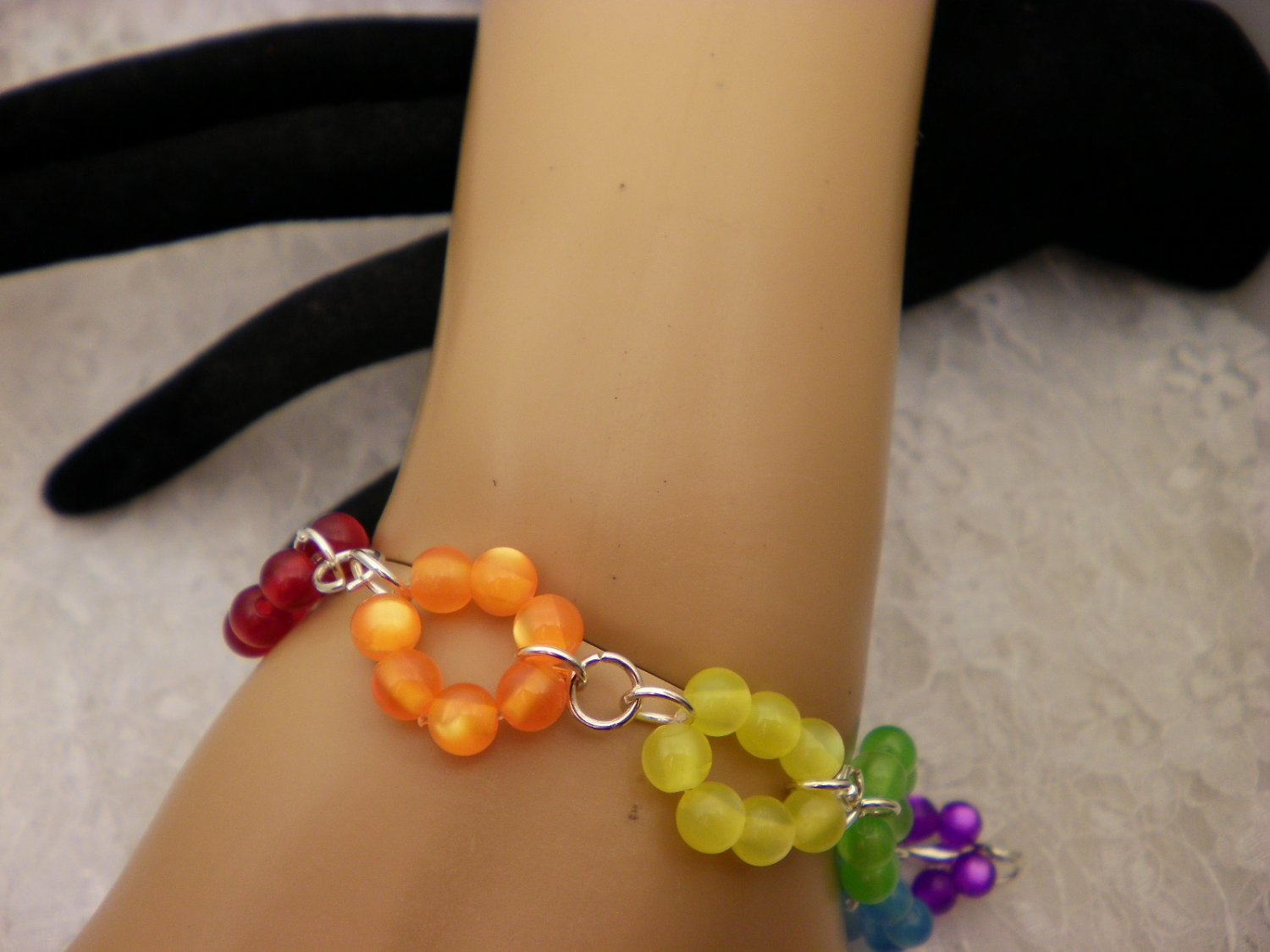 Color Beaded Ring Bracelet