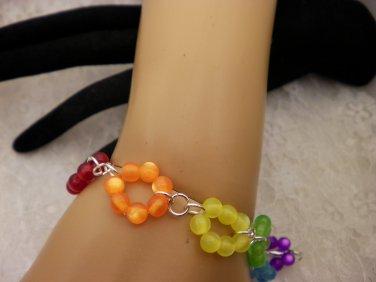 Color Beaded Ring Bracelet