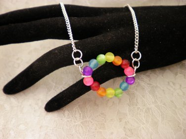 Colored Ring Necklace